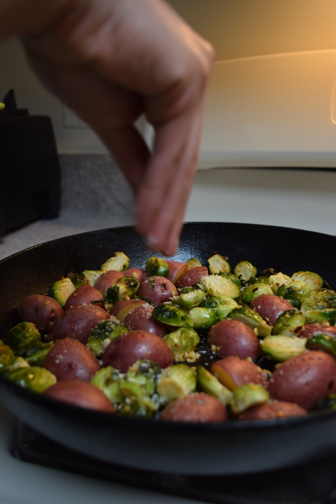 brussels sprouts roasted with parmesan cheese