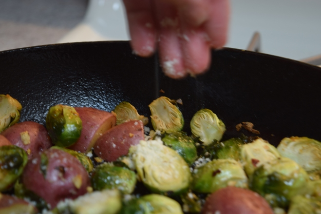 seasoning brussels sprouts