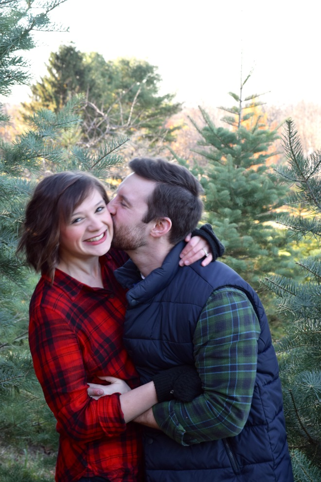 first married christmas finding a christmas tree