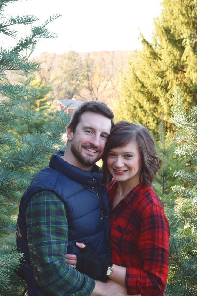 first married christmas tree tagging